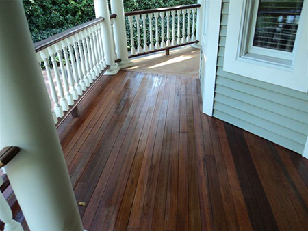 Outdoor Wood Floor installation In Ramsey, NJ
